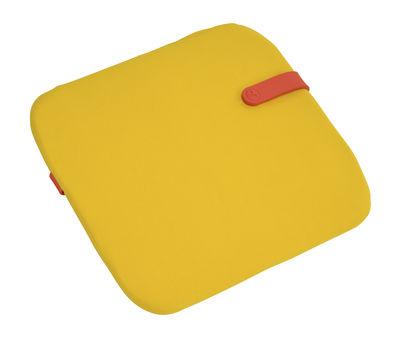 Galette de chaise Color Mix / 41 x 38 cm - Fermob capucine,jaune toucan en tissu