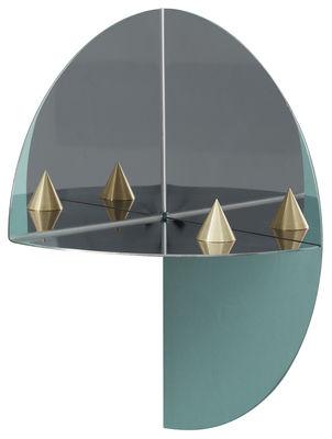 Foto Mensola d'angolo Pivot 2 XL - / Angolo interno - L 45 cm di Hay - Specchio - Metallo