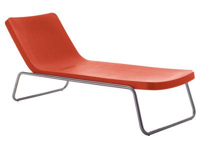 Bain de soleil Time Out / Fixe - Serralunga orange,métal en matière plastique