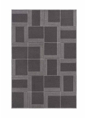Tapis Oryza Feutre 160 x 240 cm Gan blanc,gris en tissu