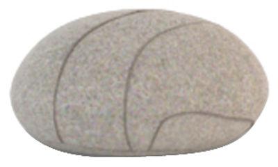 Coussin Pierre Livingstones Laine 30x27 cm Smarin gris clair en tissu