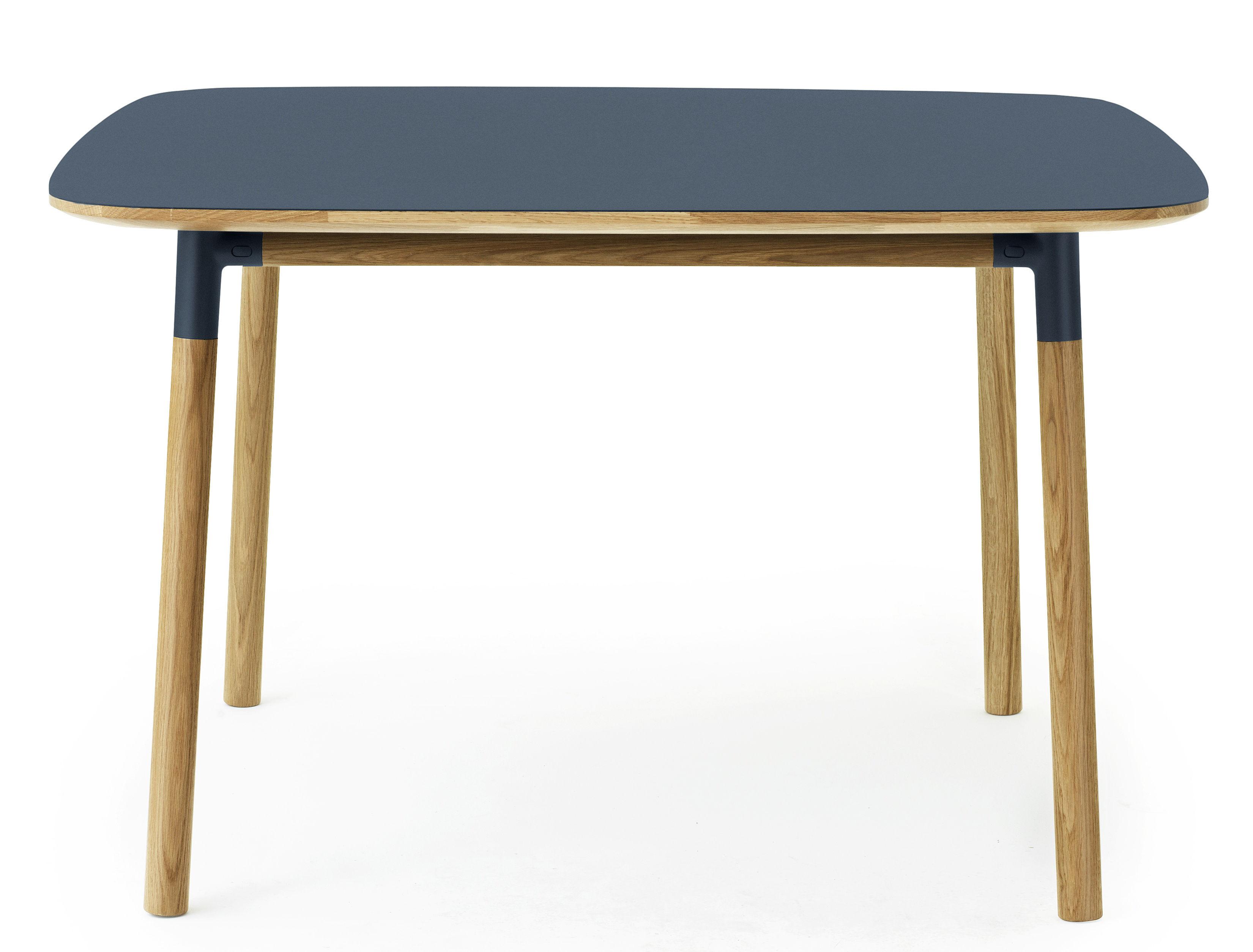 Form Table 120 x 120 cm Blue oak by Normann Copenhagen