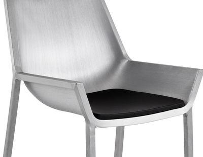 Jardin - Poufs, coussins & tapis d'extérieur - Coussin d'assise / Pour collection Sezz - Emeco - Noir - Coussin assise - Vinyle
