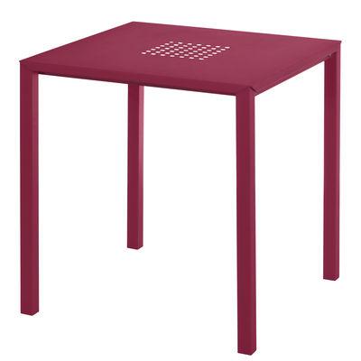 Jolly Tisch / 70 x 70 cm - Stahl - Emu - Rot