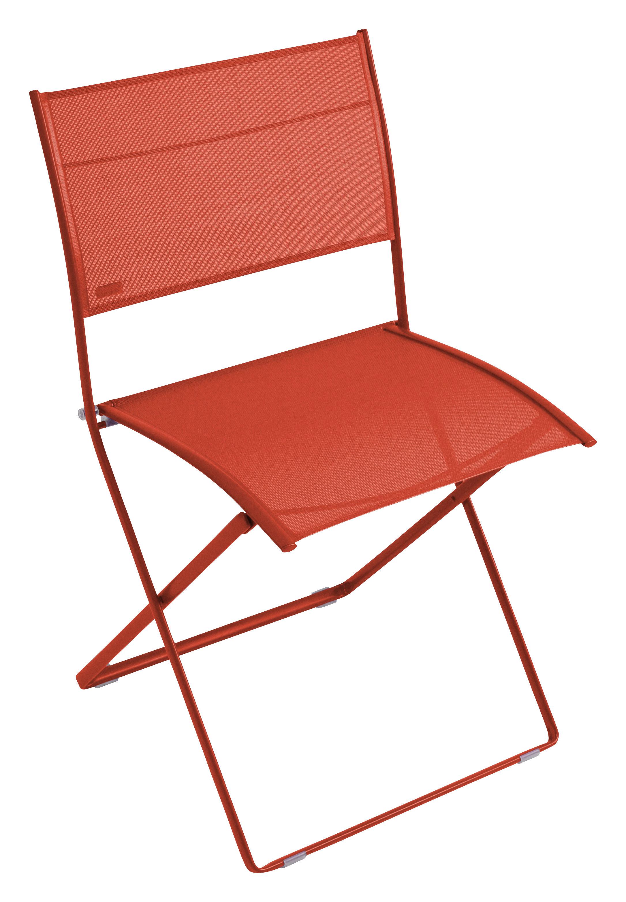 chaise pliante plein air toile paprika chin fermob. Black Bedroom Furniture Sets. Home Design Ideas