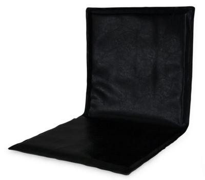 Foto Cuscino di seduta Slim Sissi / Per sedia Slim Sissi - Zeus - Nero - Pelle Cuscino per seduta