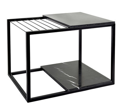 hang it large beistelltisch zeitschriftenst nder marmor 60 x 47 cm schwarzer marmor. Black Bedroom Furniture Sets. Home Design Ideas
