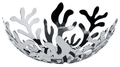 Accessories - Bathroom Accessories - Mediterraneo Basket by Alessi - Ø 21 - Steel - Stainless steel