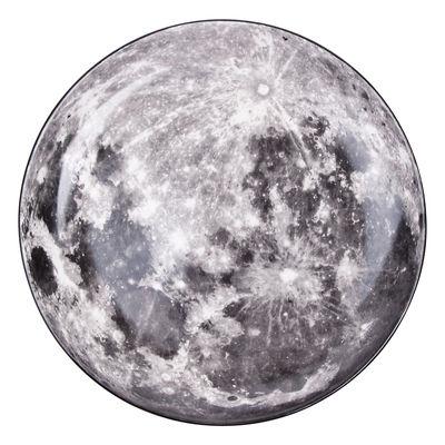 Plat de présentation Cosmic Diner Lune / Ø 30 cm - Diesel living with Seletti gris,noir en céramique