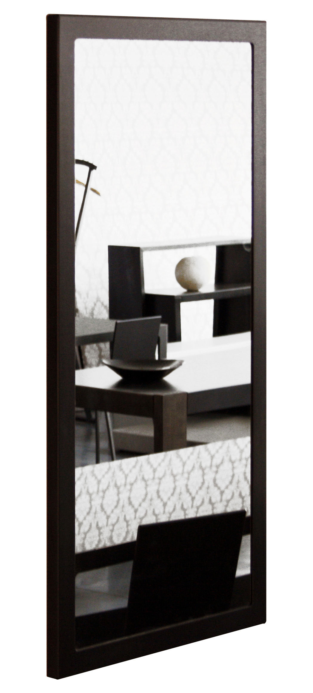 little frame wall mirror 60 x 120 cm black phosphatized. Black Bedroom Furniture Sets. Home Design Ideas