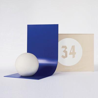 Accessoires - Accessoires bureau - Coffret Designerbox#34 / Serre-livres Murakami - Studio Dessuant Bon - Designerbox - Bleu / Béton - Béton, Tôle d'aluminium laquée