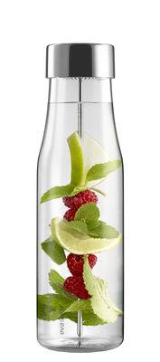 Arts de la table - Carafes et décanteurs - Carafe MyFlavour / 1L - Eva Solo - Transparent - Acier inoxydable, Silicone, Verre borosilicaté