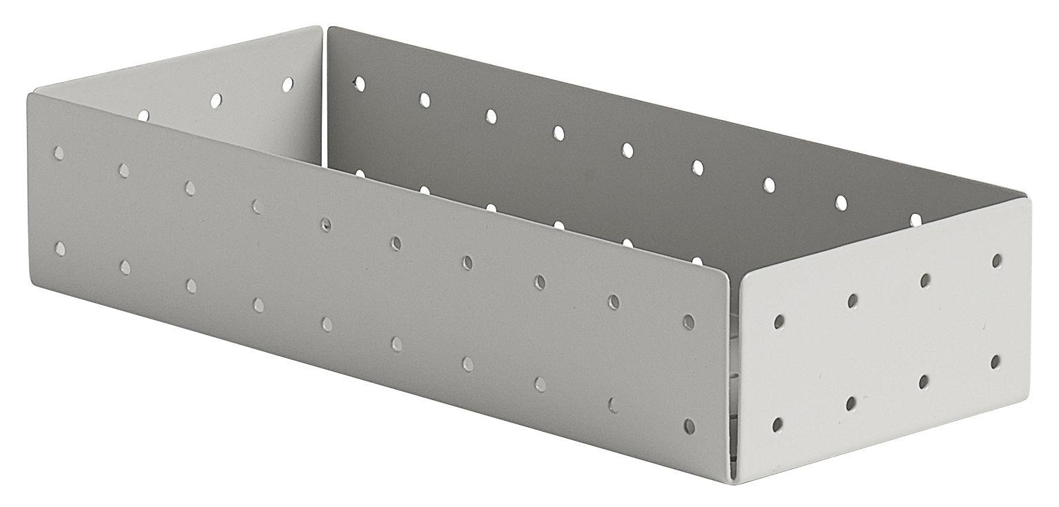 Punched organizer portapenne grigio by hay made in design for Portapenne ufficio design