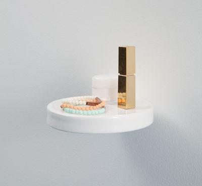 Etagère Balcon / Céramique - Ø 14 cm Céramique blanche - Moustache