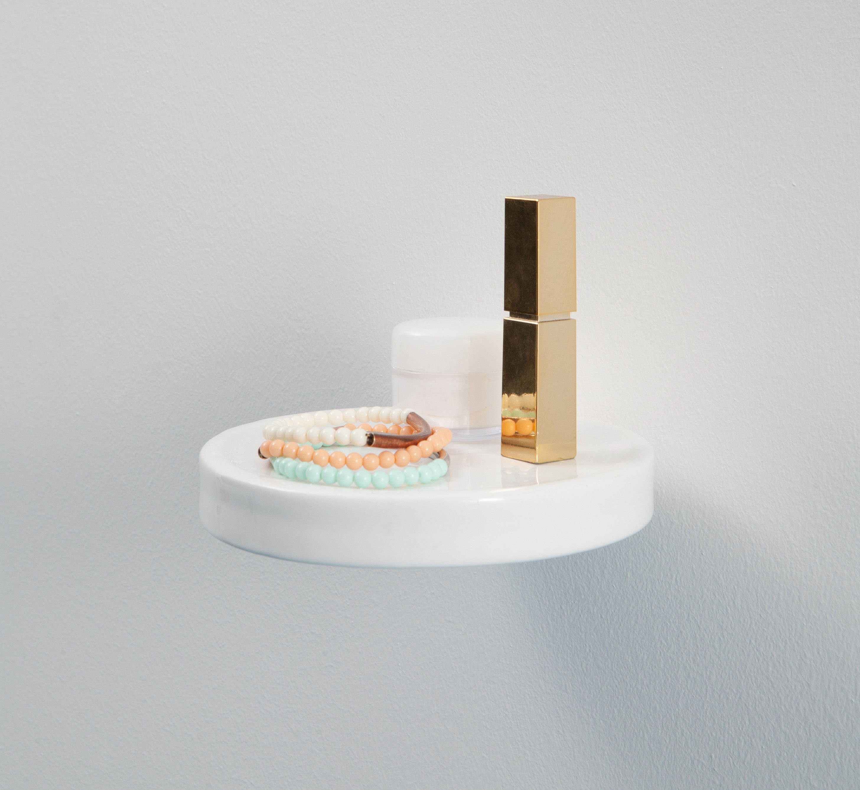 Etagère Balcon / Céramique - Ø 14 cm Céramique blanche - Moustache ...