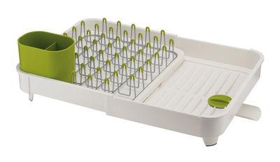 Cuisine - Vaisselle et nettoyage - Egouttoir Extend / Extensible - Joseph Joseph - Blanc & vert - Acier, Matière plastique