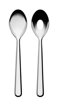 Couverts à salade Amici - Alessi acier en métal