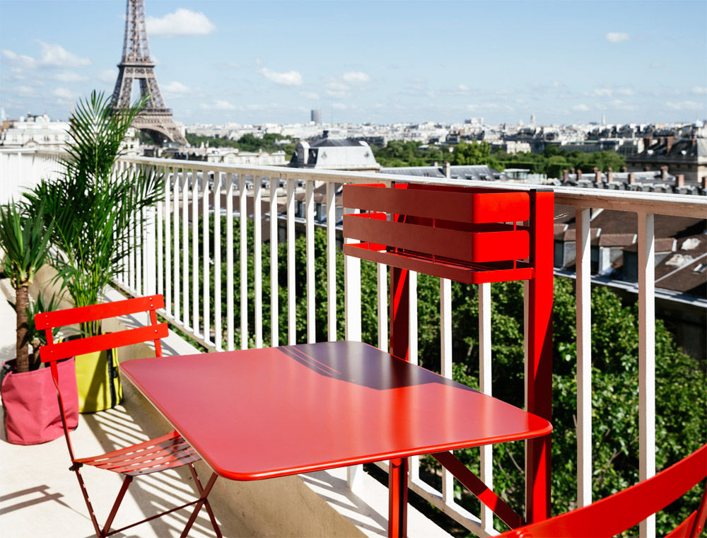 table pliante balcon bistro rabattable 77 x 64 cm muscade fermob made in design. Black Bedroom Furniture Sets. Home Design Ideas