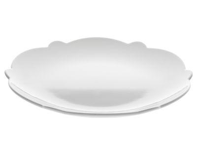 Arts de la table - Assiettes - Assiette à dessert Dressed Ø 20 cm - Alessi - Assiette à dessert Ø 20 cm - Blanc - Porcelaine