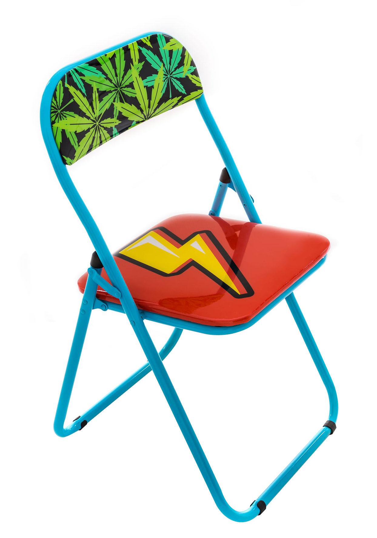 eclair gepolstert seletti klappstuhl. Black Bedroom Furniture Sets. Home Design Ideas