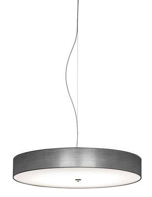 Luminaire - Suspensions - Suspension Discovolante / Ø 40 cm - Modoluce - Argent métallisé / PVC - Plexiglas, PVC