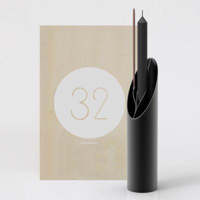 Déco - Vases - Coffret Designerbox#32 / Vase Eva - Eugeni Quitllet - Designerbox - Noir / Coffret bois - Bois, Plastique