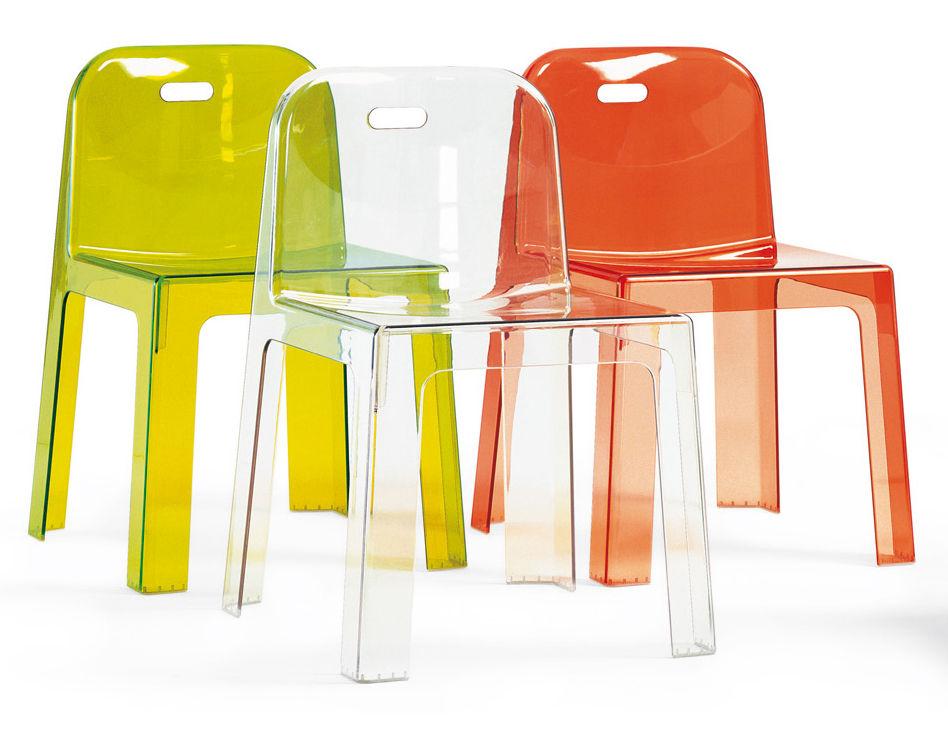 chaise empilable trono transparente cristal segis. Black Bedroom Furniture Sets. Home Design Ideas