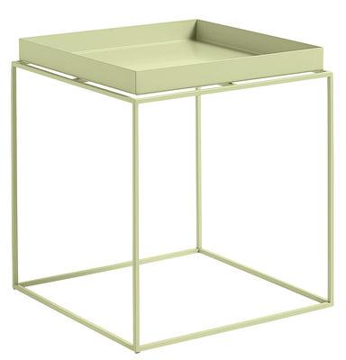 Table basse Tray H 40 cm / 40 x 40 cm - Carré - Hay jaune clair en métal