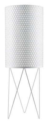 Foto Lampada Pedrera Ø 39 x H 113 cm - Rieditata 1955 - Gubi - Pedrera - Bianco - Metallo Lampada a stelo