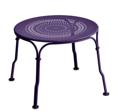 Tavolino basso 1900 / Ø 45 cm - Fermob - Melanzana - Metallo