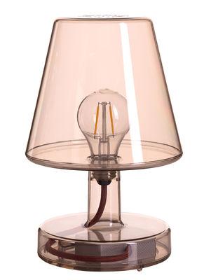 Lampe sans fil Transloetje / LED - Ø 16 x H 25 cm - Fatboy marron transparent en matière plastique