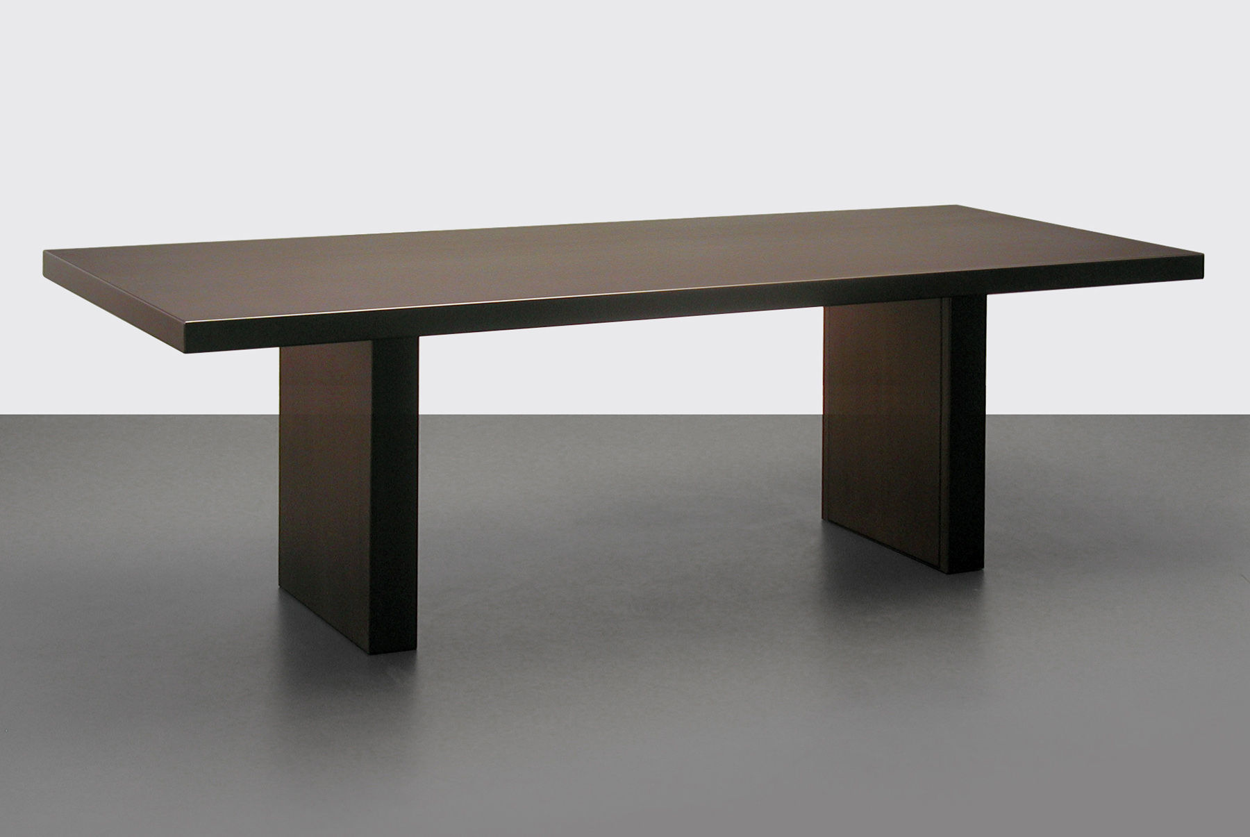 Tommaso table steel version 180 x 90 cm dark bronze by for Table 180 x 85