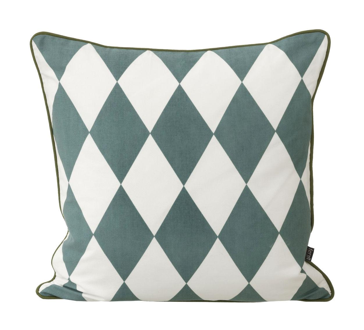 coussin large geometry coton 50 x 50 cm bleu p trole. Black Bedroom Furniture Sets. Home Design Ideas
