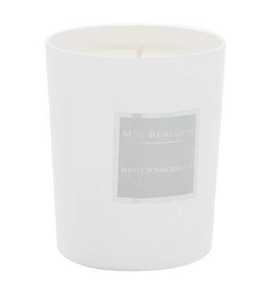 Bougie parfumée Grenade blanche - 190gr - Max Benjamin blanc,gris en verre