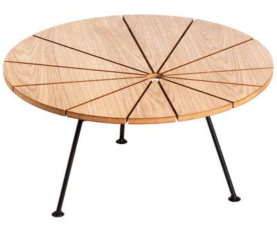 Table basse Bam Bam Ø 70 cm - OK Design pour Sentou Edition chêne naturel en métal