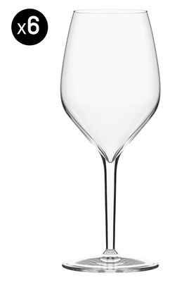 Tableware - Wine Glasses & Glassware - Vertical Medium Wine glass - Set of 6 / 39 cl by Italesse - Red & white wine / 39 cl - Glass