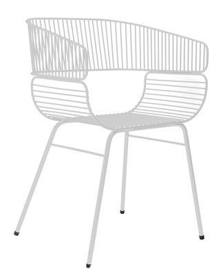 Chaise Trame / Métal - Petite Friture gris clair en métal