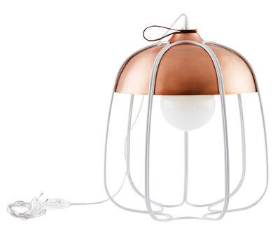 Lampe de table Tull / Ø 36 x H 40 cm - Incipit Blanc,Cuivre en Métal
