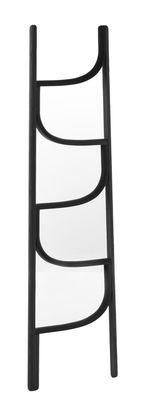 Porte-serviettes Ladder / Porte-serviettes - H 160 cm - Wiener GTV Design noir en bois