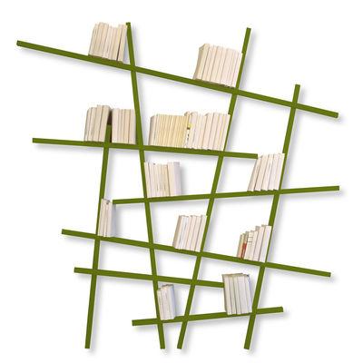 Bibliothèque Mikado / Large - L 215 x H 220 cm - Compagnie kaki en bois