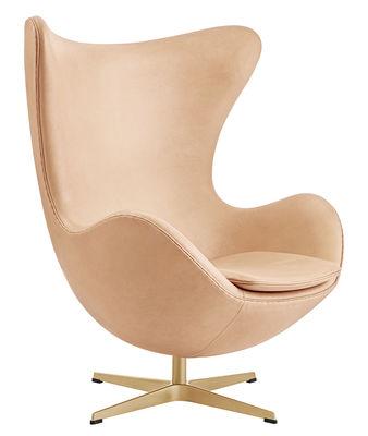 Möbel   Lounge Sessel   Egg Chair Drehsessel / Leder U0026 Gold   Limitierte  Und Nummerierte