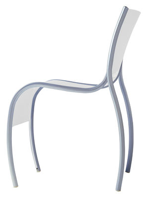 Furniture - Chairs - FPE Stacking chair - Plastic & metal by Kartell - Opaline - Polypropylene, Varnished aluminium