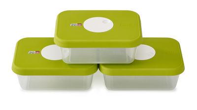 Cuisine - Boîtes, pots et bocaux - Boîte hermétique Dial / Set de 3 - 1 L - Joseph Joseph - Vert / Capacité : 3 x 1 L - Matière plastique