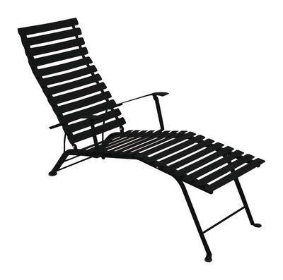 Chaise longue Bistro - Fermob réglisse en métal