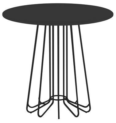 Furniture - Coffee Tables - Smallwire Coffee table by Zanotta - Black leg ant table top - Varnished glass, Varnished steel