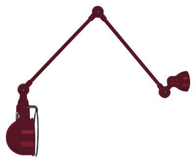 Applique Signal / 2 bras - L max 60 cm - Jieldé bourgogne brillant en métal