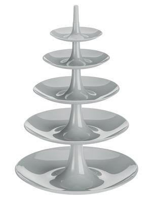 Serviteur Babell XXL / Ø 38 cm x H 53 cm - Koziol gris clair en matière plastique