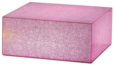 Table basse lumineuse Crack LED / 130 x 70 cm - Glas Italia rose en verre