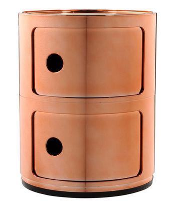 Mobilier - Meubles de rangement - Rangement Componibili / 2 tiroirs - Métallisé - Kartell - Cuivre - ABS