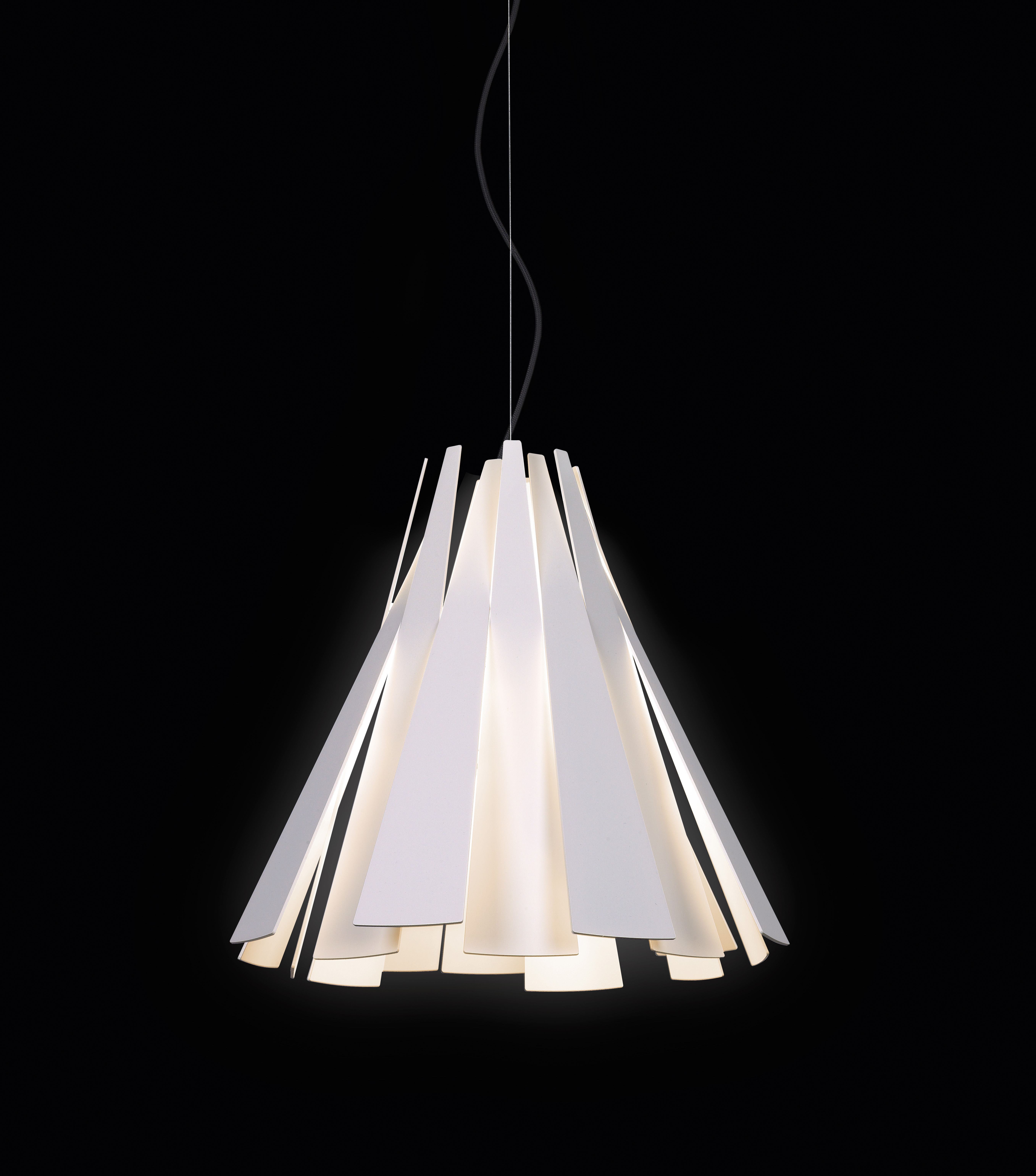 Suspension Metronome 216 45 X H 39 Cm Blanc Delta Light